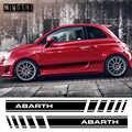 1 paar 2 Seiten Vinyl Auto Styling Abarth Side Stripes Rock Aufkleber Decals Wraps Körper Aufkleber Grafiken Für FIAT 500