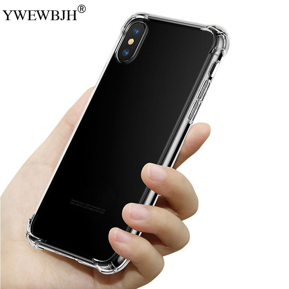 YWEWBJH For iPhone X XS Max Case For iPhone 7 8 Plus Shockproof Soft Silicone Phone Case For iPhone XS XR 8 7 Cover