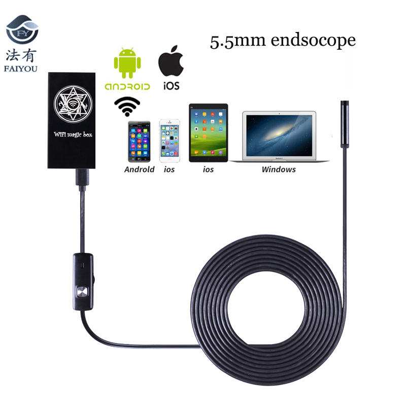 Universal WIFI Endoscope WIFI Camer Gold WIFI 2.4GHZ 2MP 720P 6LED Lamp IP67 Waterproof 65 Degree Angle for Android IOS PC ...