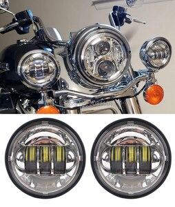 """Image 3 - 4.5 """"4 1/2"""" 30 W projektor LED mijania mgła światło do motocykla Harley Road King Street Glide Softail dziedzictwa Electra Glide touring"""