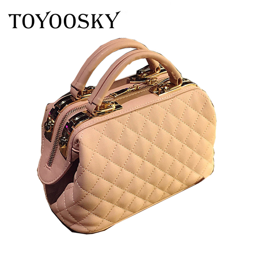 d0c76528b6ee TOYOOSKY Fashion Small Boston Bag Women Luxury Crossbody Quilted ...