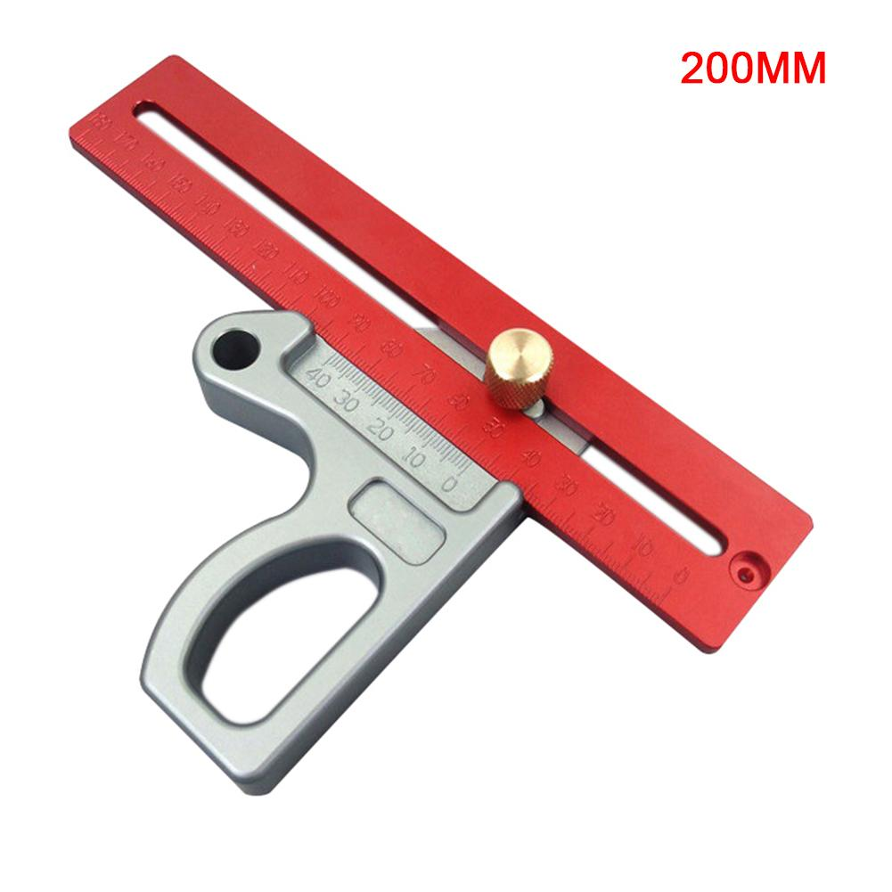 200MM Woodworking Ruler L-Square Height Ruler Woodworking Scribe Woodworking Scribe Gauge Aluminum Alloy Measuring Tool