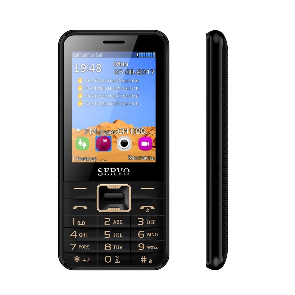 SERVO V8100 2,8 дюймов 4 sim-карты 4 резервный телефон Bluetooth фонарик FM GPRS GSM мобильные телефоны с русской клавиатурой мобильный телефон