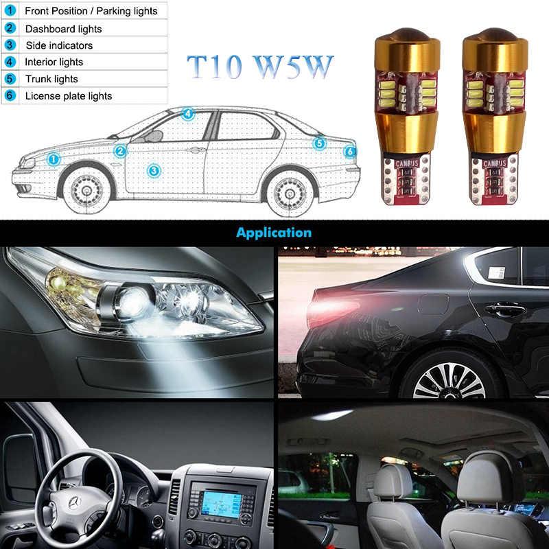 2X T10 W5W รถ LED หลอดไฟ LED สีขาว/ICE BLUE สำหรับ Lexus RX350 RX300 IS250 RX330 LX470 IS200 LX570 GX460 GX ES LX คือ IS350 LS460 SC430
