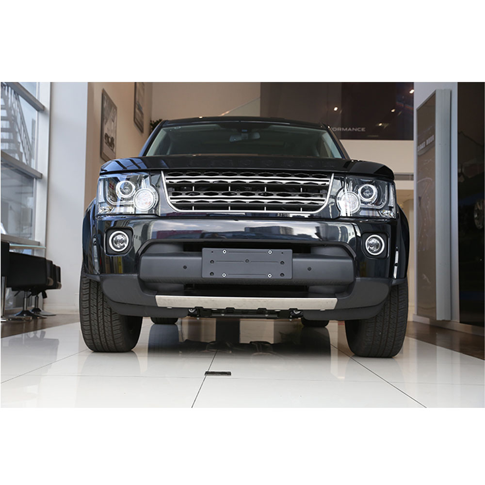 For Land Rover Discovery 4 LR4 2014-2016 Car-styling 304 Stainless Front Bumper Sill Plate Protector Cover Trim Stickers 1pc все цены