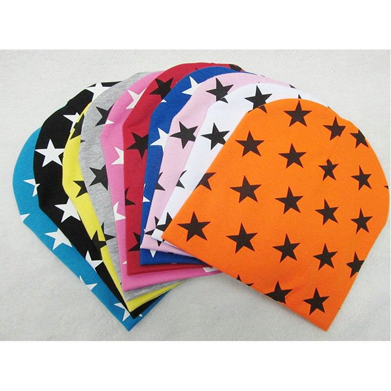 Spring Autumn Star Baby Hat Knit Cap Unisex Mesh Knit Cotton Children Fashion