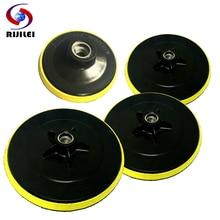 RIJILEI 3/4/5/6/7inch Backing Polishing Buffing Pad Marble Backer Hook&Loop Plate Rubber HF
