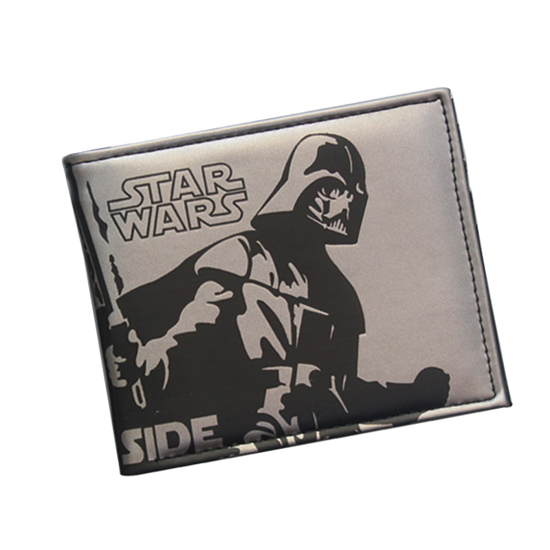 Comics STAR WARS Wallets Darth Vader Anime Purse For Men Brand Movie Character Short Wallet Money Bag Card Holder Leather Wallet dc movie hero bat man anime men wallets dollar price short feminino coin purse money photo balsos card holder for boy girl gift