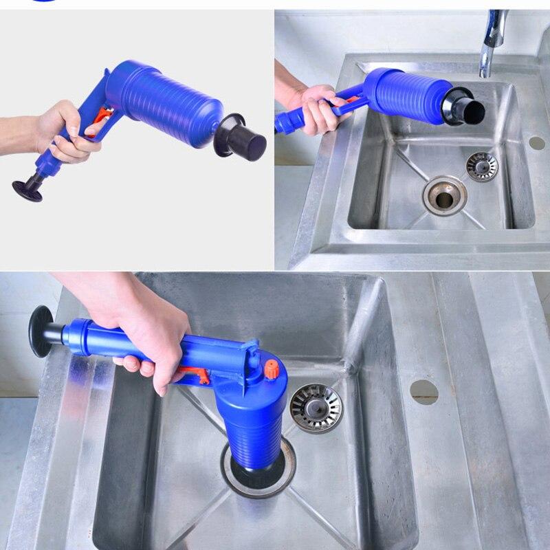 Accueil Salle D'eau Outils Air Puissance Plongeur Pression Toilette Drain de Plancher Canalisation Blaster Pompe Cleaner Poignée Outils De Nettoyage