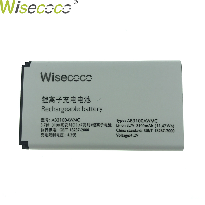 WISECOCO 100% Original AB3100AWMT AB3100AWMC Battery For <font><b>PHILIPS</b></font> Xenium X1560 X5500 CTX5500 CTX1560 Mobile phone + Tracking code image