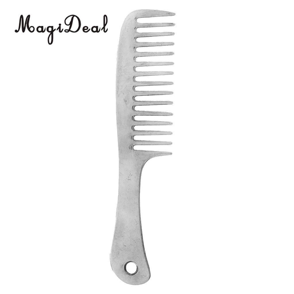 MagiDeal Stainless Steel Polished Horse Pony Grooming Comb Tool Currycomb Rustless Pet h ...