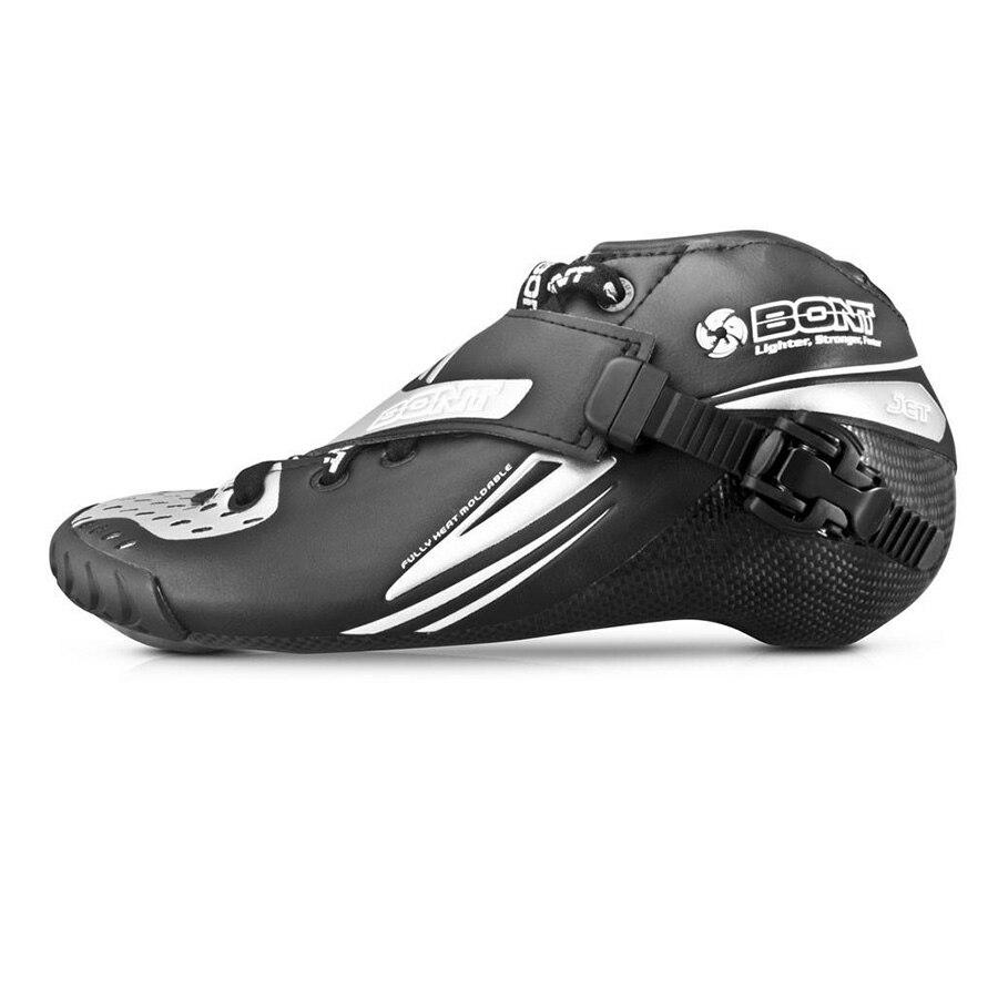 100% Original Bont Jet 2PT vitesse de démarrage patin à roues alignées respirant doublure en Fiber de carbone compétition chaussures de patinage de course chaussures Patines