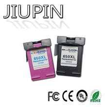 JIUPIN Compatible 650XL Ink Cartridge Replacement for HP 650 XL for HP650 Deskjet 1015 1515 2515 2545 2645 3515 3545 4515 4645 цена 2017
