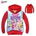 2016 Spring Autumn Fashion Baby Girls Hoodies Sweatshirts baby boy long sleeve cartoon Little Pony top Children Clothing Cartoon