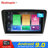 4G RAM Android 9.0 car Radio Stereo DVD Player For Skoda Octavia A7 2013 2016 Auto Audio GPS Navigation Video Stereo Multimedia