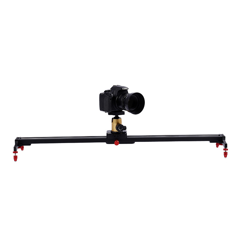 60cm/80cm 4 Bearing Aluminum DSLR Camera DV Damping Slider Track Rail Video Stabilizer Slide for Photography Studio Camcorder 60cm mini camera video slr stabilizer 3 axis silent damping slide portable compact track slider rail system