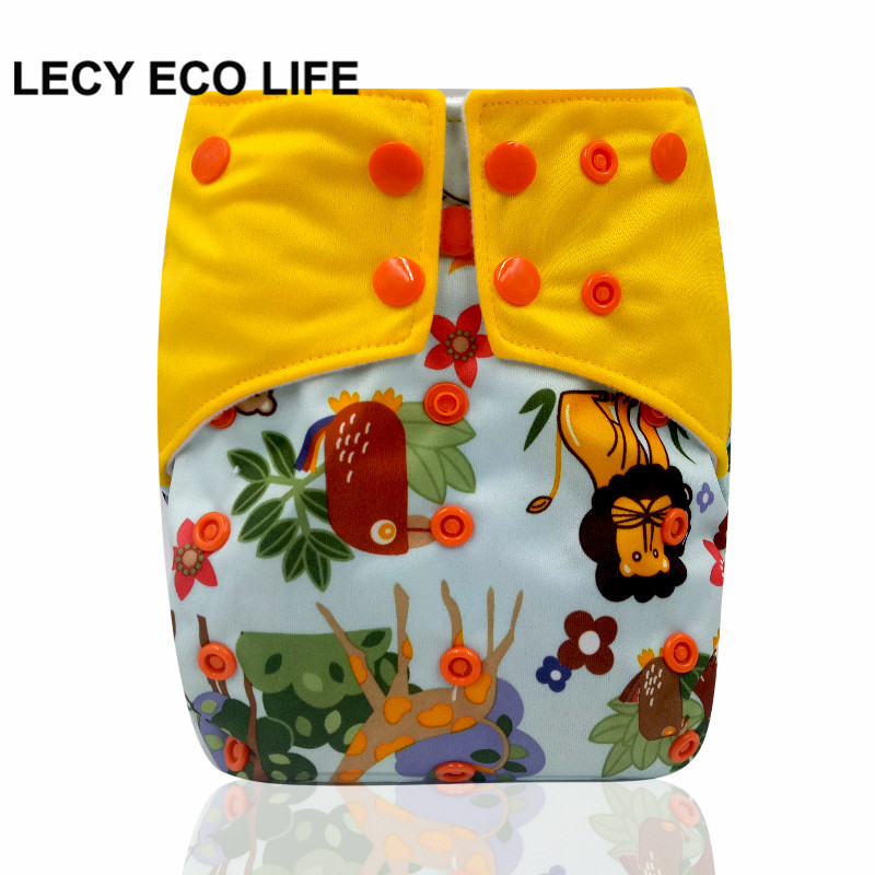 LECY ECO LIFE one size sleeve diaper with color tab, square tab baby reusable nappy with stay dry suede cloth inner wholesale
