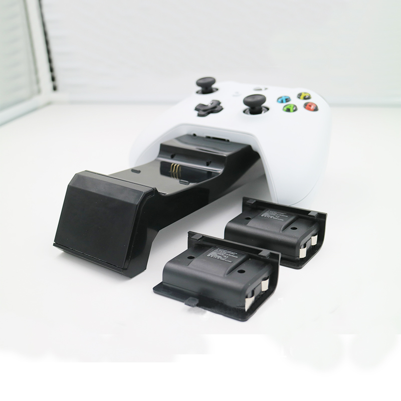 Image 4 - With charging status screen gamepad charger station base plus 2 rechargeable battery packs for Xbox One / One S / One X-in Chargers from Consumer Electronics