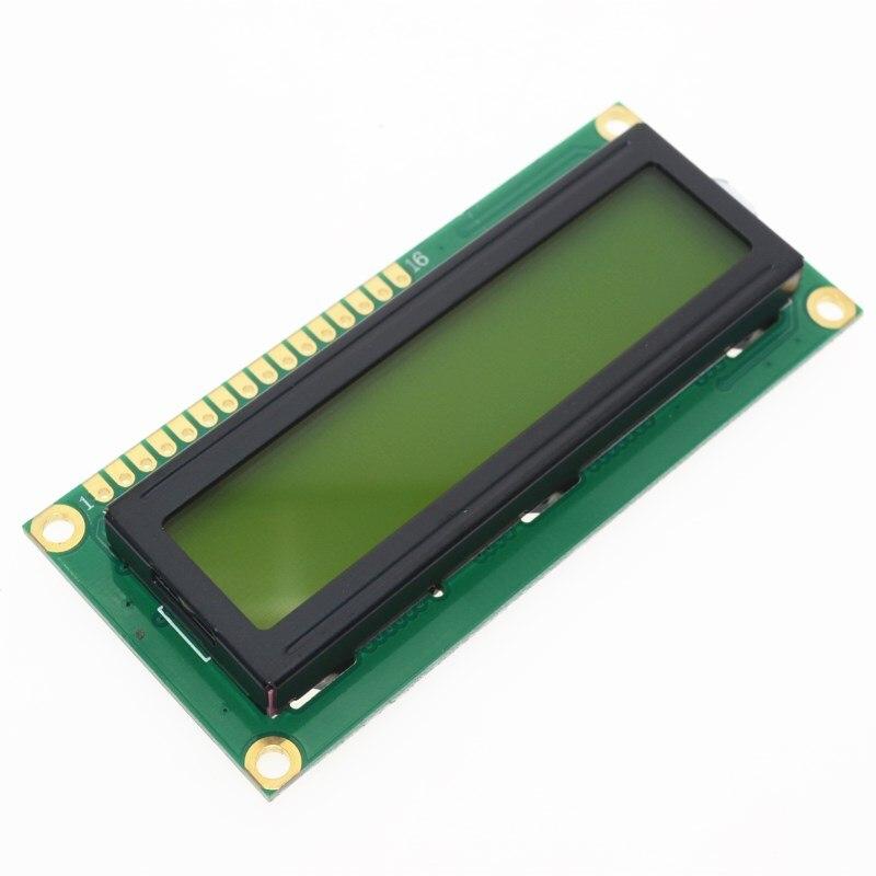 1 pces lcd1602 1602 módulo tela verde 16x2 caracteres display lcd module.1602 5 v tela verde e código branco para arduino