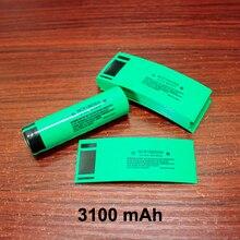 100 ชิ้น/ล็อต 18650 แบตเตอรี่ลิเธียมแพคเกจปลอกแบตเตอรี่ผิว PVC ฟิล์มหดความร้อนแบตเตอรี่ 3100MAH
