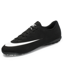 цена на Football Boots Football Shoes New Adults Men's Outdoor Soccer Cleats High Top TF/FG Training Sports Sneakers Large Size 33 - 45