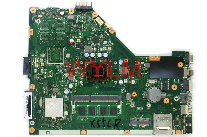 free shipping NEW original X55C X55CR X55VD Laptop motherboard MAIN BOARD REV 3.2 SR0DR I3 CPU USB 3.0 2GB RAM Tested Working купить дешево онлайн