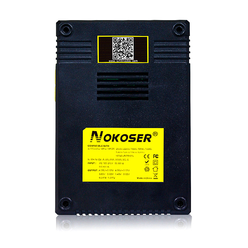 Chargers NOKOSER Tablet LCD 18650 14500 16340 26650 Insurance Intelligent Circuitry Global