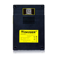 Tablet Chargers NOKOSER D4 Digicharger LCD Intelligent Circuitry Global Insurance Li ion 18650 14500 16340 26650 Battery Charger