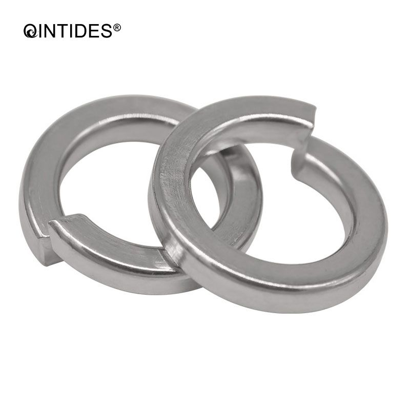 QINTIDES M1.6 - M30 Single coil spring lock washers-Normal type GB93 304 stainless steel Shells Pad Spring Lock M2 M2.5 M3 M4 M5