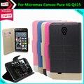 Aliexpress Hot! caso micromax canvas pace 4g q415 preço de fábrica 5 cores de couro exclusivo slip-resistente tampa do telefone + rastreamento