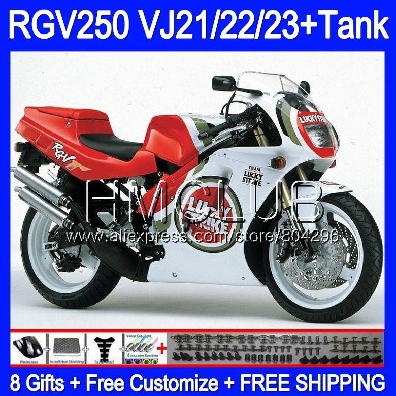 + Réservoir Pour SUZUKI VJ21 RGV250 88 89 90 91 92 93 Lucky Strike 39HM. 22 RGV-250 VJ22 RGV 250 1988 1989 1990 1991 1992 1993 Carénage