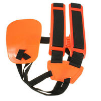 Professional Double Shoulder Strap Grass Trimmer Brush Cutter Harness Belt Garden Power Pruner Nylon Orange