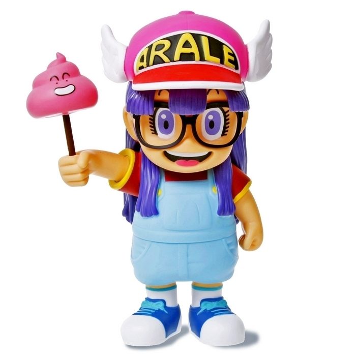 Anime Cartoon Dr.Slump Arale with Faeces PVC Action Figure Model Toy 20cm arale figure anime cartoon dr slump pvc action figure collectible model toy children kids gift 6 types