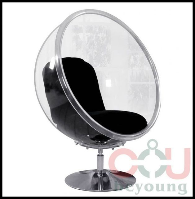 Ordinaire Classic Creative Floor  Rotatable Ball Bubble Chair Lounge Chair  Transparent Acrylic Bubble Chairs Swivel Chair
