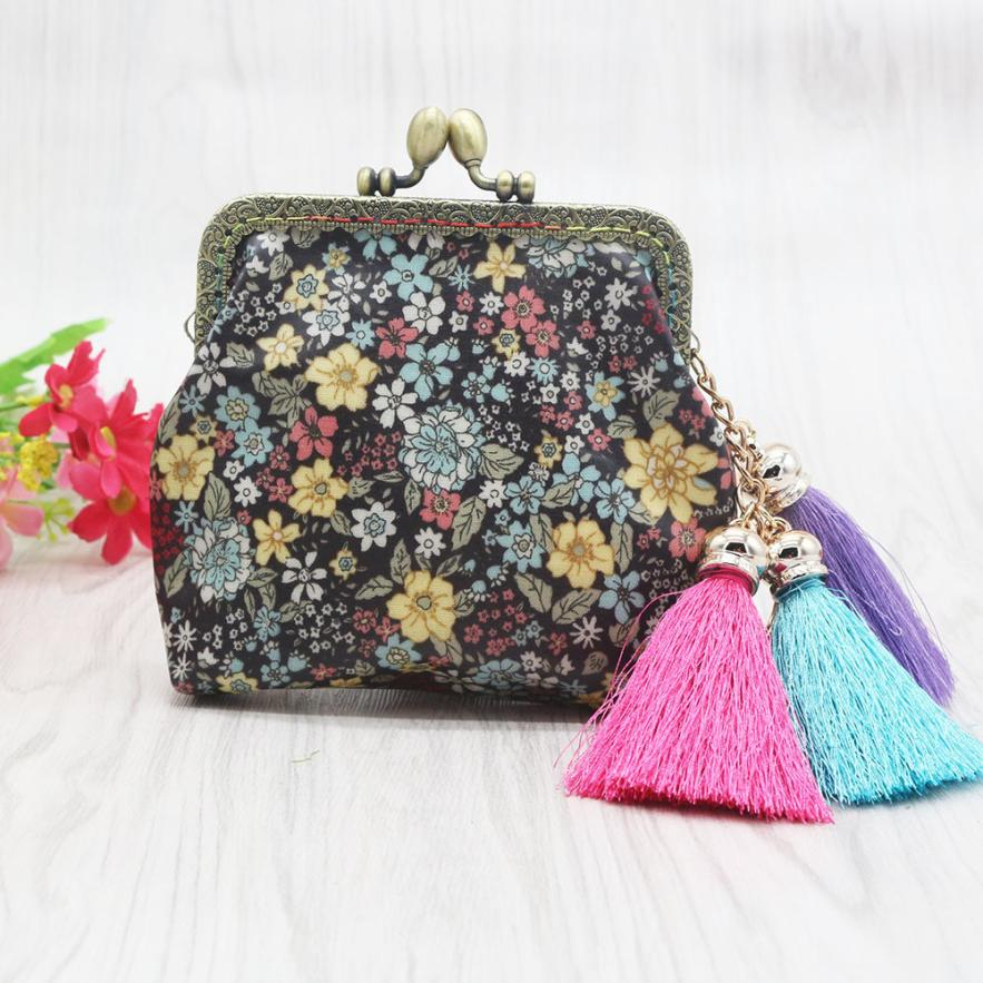 Xiniu Bags Women Coin Wallets Flower Small Wallet Card Holder Coin Purse Bag Womens Tassels Waterproof Bag