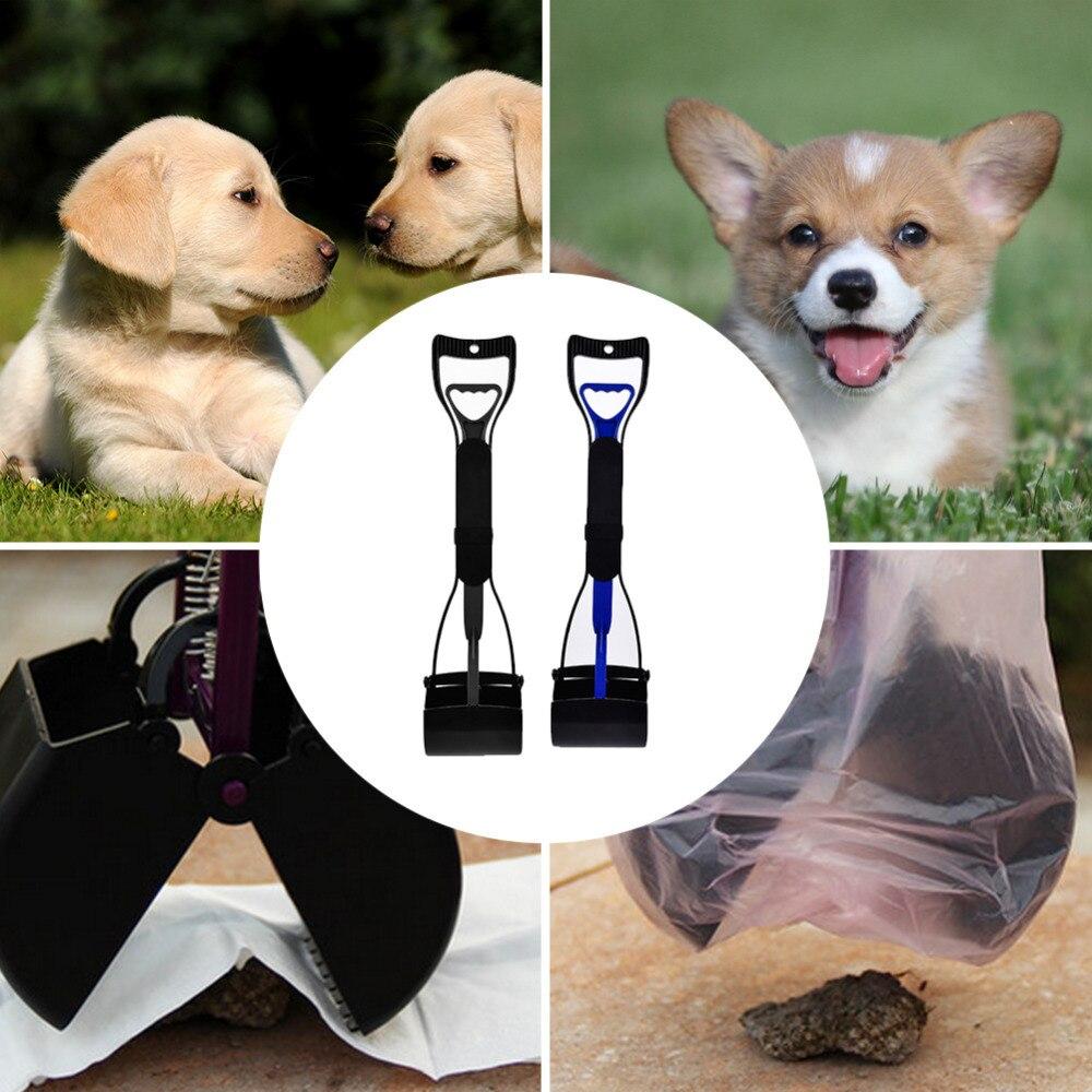 Lengthened Handle Pet Dog Pooper Scooper Jaw Poop Cleaner Waste Litter Bag Holder Shit Clean Pet Products Shovel for Dogs Cats