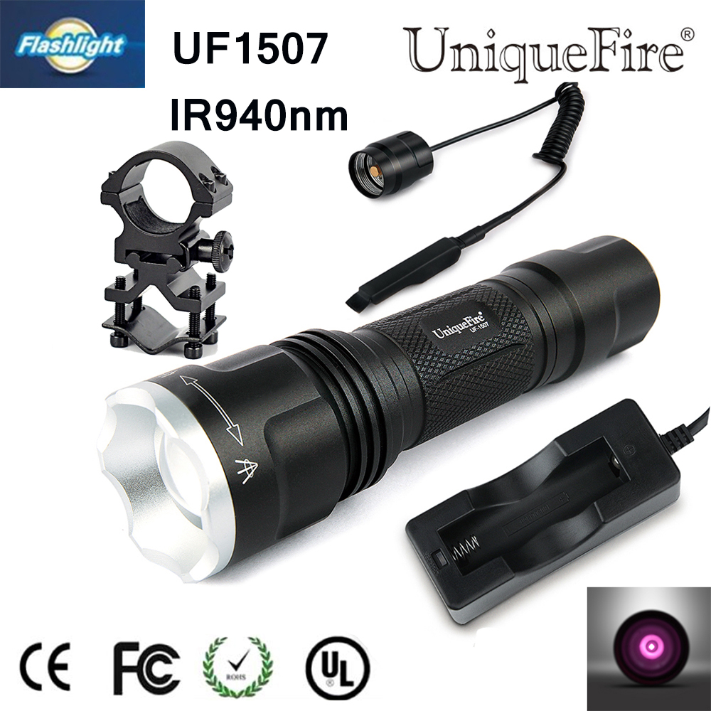 Hot Sale New High Quality 3 Mode Mini Lamp1507 IR 940NM LED Flashlight+Charger+Tactical Remote+Gun Mount For Hunting Free Ship 2016 hot sale free super performance 2015 professional mini dsg reader dq200 dq250 for new release dsg