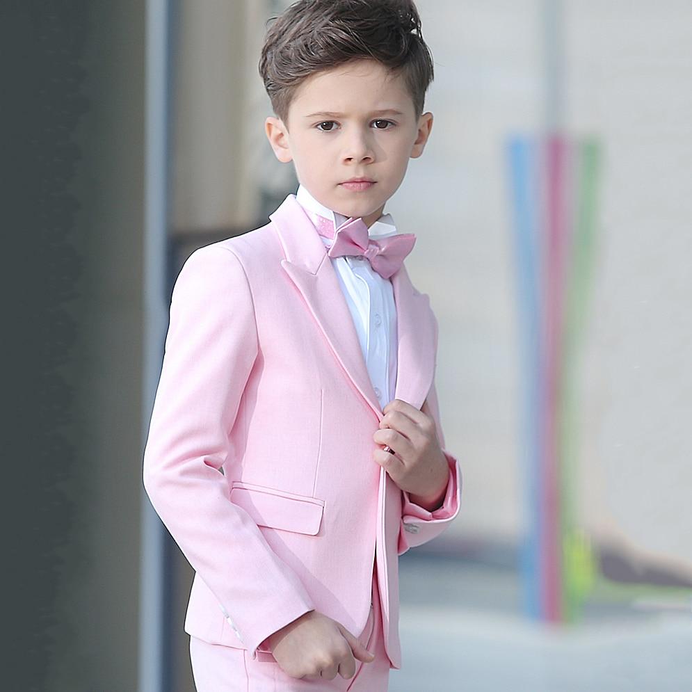 Nuevo 2017 lindo muchacho niño Trajes blazer con pantalones niños ...