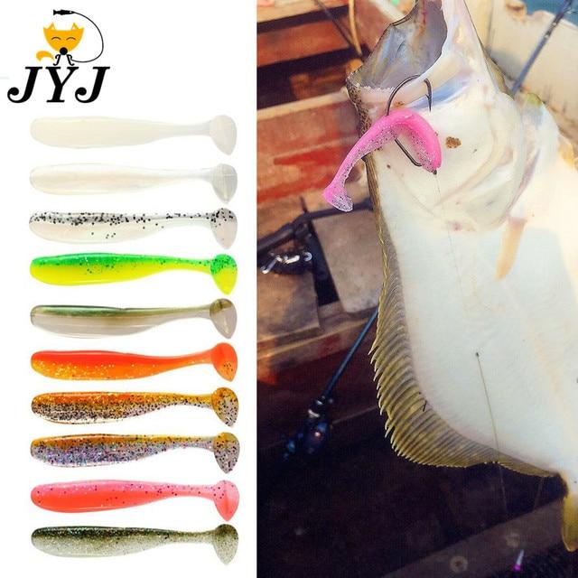5 pcs 7 cm 2g nhân tạo silica mềm shad mồi lure cho cá chép câu cá, nhựa hay do dự mồi t-đuôi mái chèo đuôi mềm cá lures