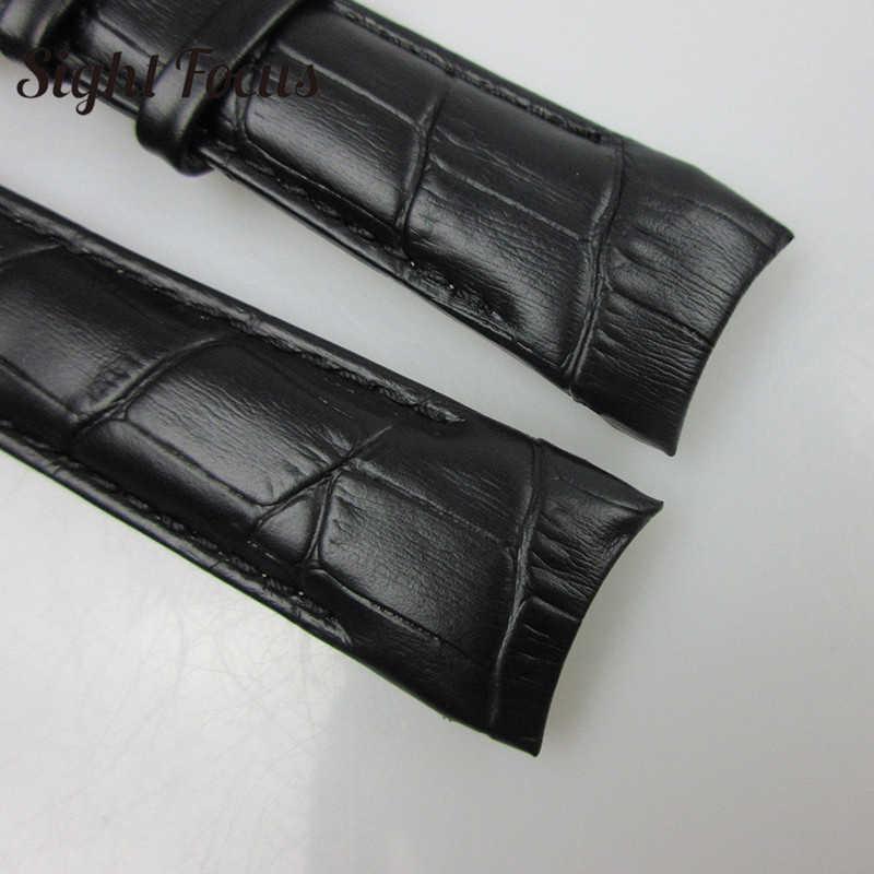 Ujung Melengkung Leather Watch Band untuk Tissot 1853 Tali Couturier T035 417 617 627 T035439 18 Mm 22 Mm 23 Mm 24 Mm Gelang Jam Reloj