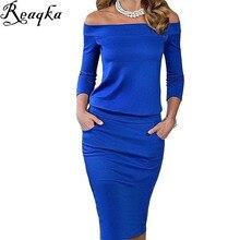 2016 New Style Summer font b Dress b font Three Quarter Sleeve Slash Neck Womens Sexy