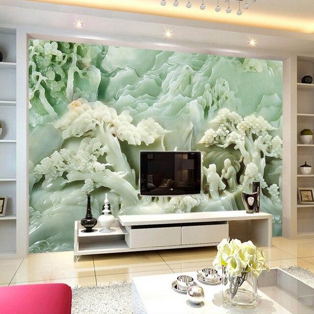 Personnalisé 3d décoration papier peint chinois style simulation ...