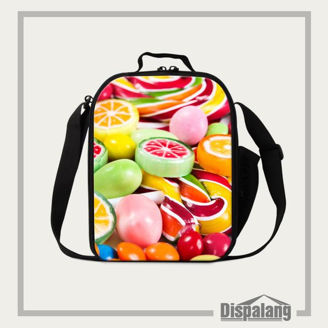 Dispalang de impresión dulces niños bolsa de almuerzo lonchera frutas para estudiantes de alimentos bolsas con cremallera bolsa de aislamiento bolsa de almuerzo bento