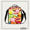 Dispalang doces impressão crianças almoço saco de frutas sacos de comida com zipper bento caixa de almoço para os alunos bolsa almoço saco de isolamento