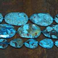 Vintage Jewelry Faceted Oval Shaped Beads Strands Ocean Jaspers Loose Beads Sediment Stone Jewelry 3 sizes BE6716