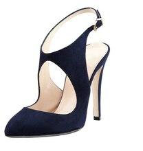2015 Marineblau Frauen Schuhe Billig Sommer Stil Sandalen Plus Größe Schnalle Günstige Modest Frauen Schuhe Fersenriemen Für Party Kleid