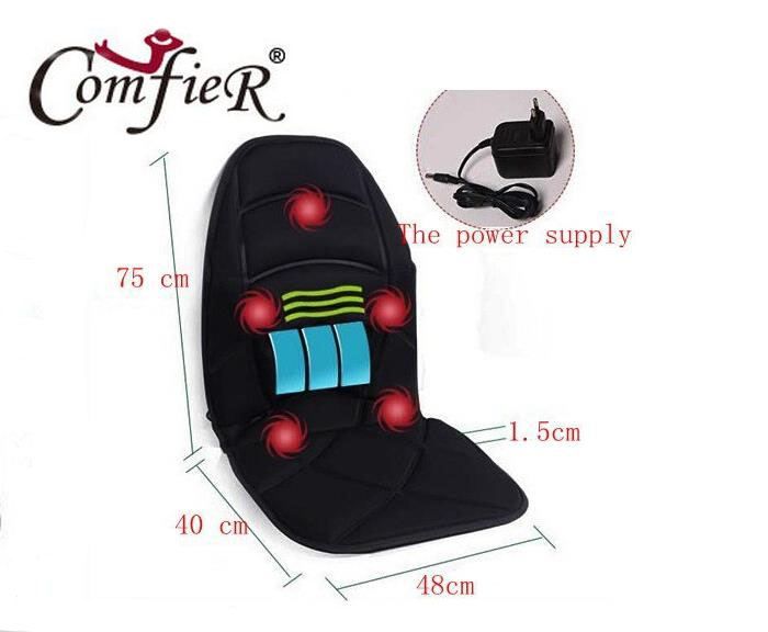 ФОТО Massage chair cushion back neck shoulder waist far infrared heating and vibration massage hot seat office car to go home