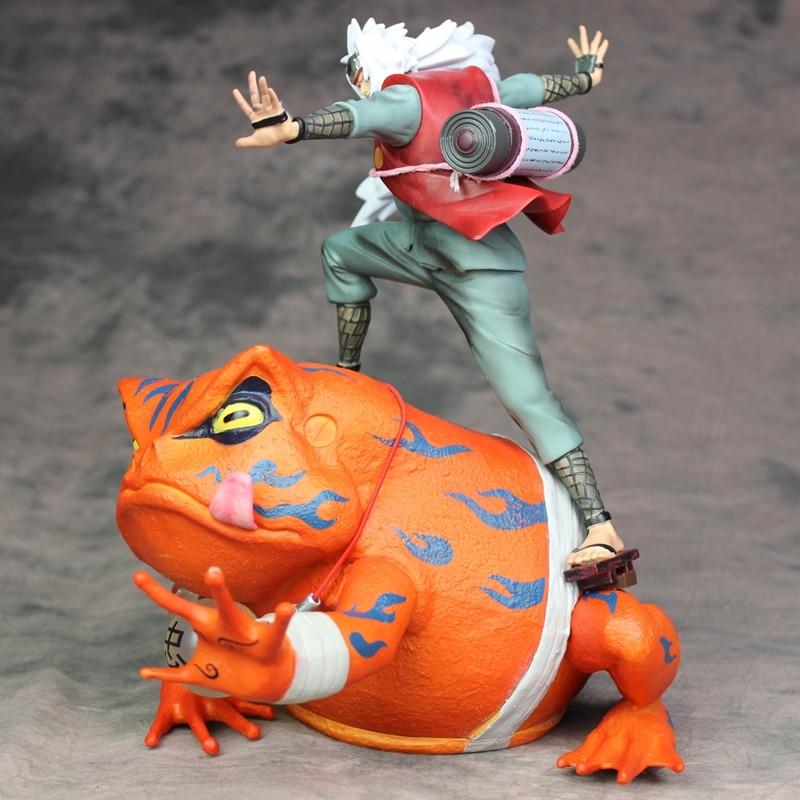 anime figure Naruto Shippuden Gama Sennin Jiraiya Gama Bunta GK Statue Action Figure Toy Doll Brinquedos Figurals Model Gift 1