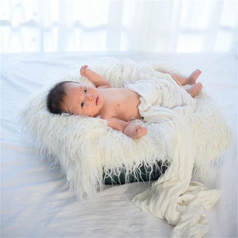 80* 50 cm Mongolian Faux Fur Photography Prop Girl Newborn Photo Prop Faux Flokati Fur Newborn Photography Background Warm Wrap pearl beading faux fur pocket ribbed dress