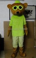 بيع عالية الجودة الكبار الحجم أصفر/أخضر ارتداء نظارات الدب التميمة حلي هالوين حفلة تنكرية